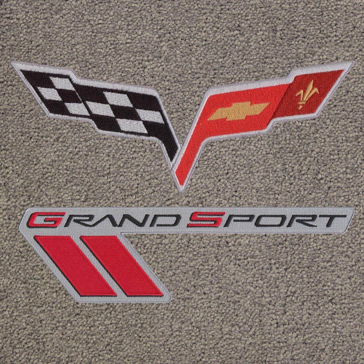 C6 & Grand Sport Logo Black Lettering on Euro Gray Mat