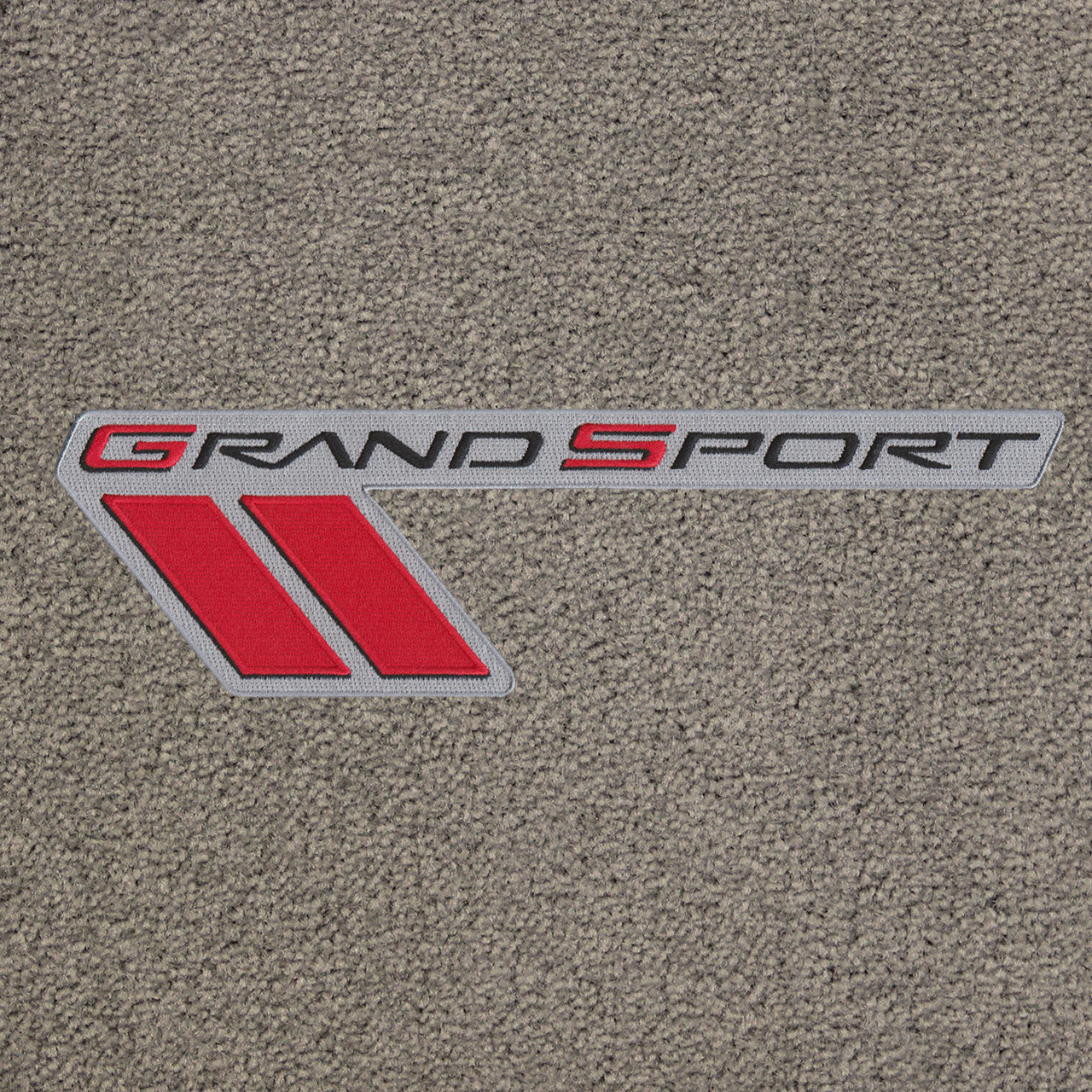 C6 Grand Sport Logo Only, Black Lettering on Euro Gray Mat