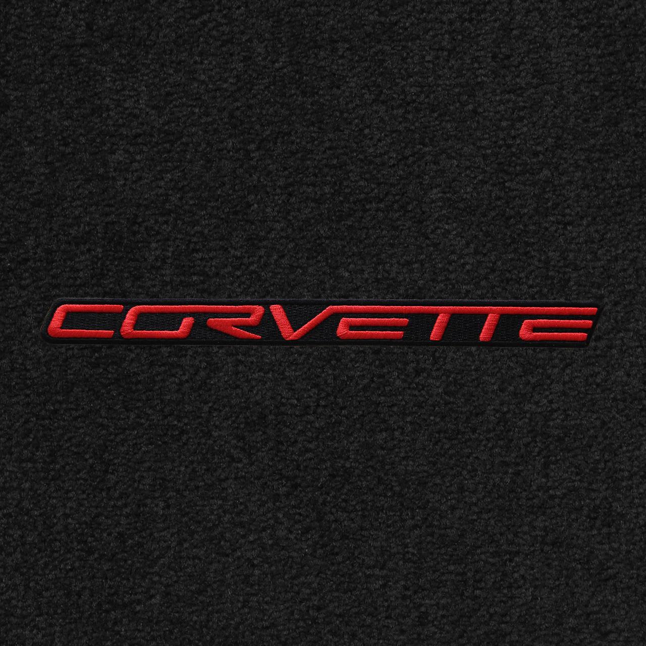 C6 Red Lettering, Black Background on Ebony Mat