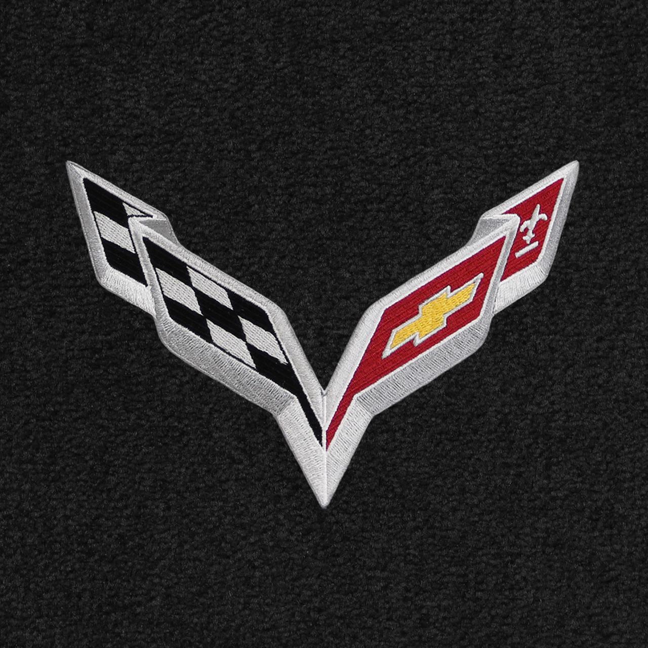 C7 Corvette Logo on Ebony Mat