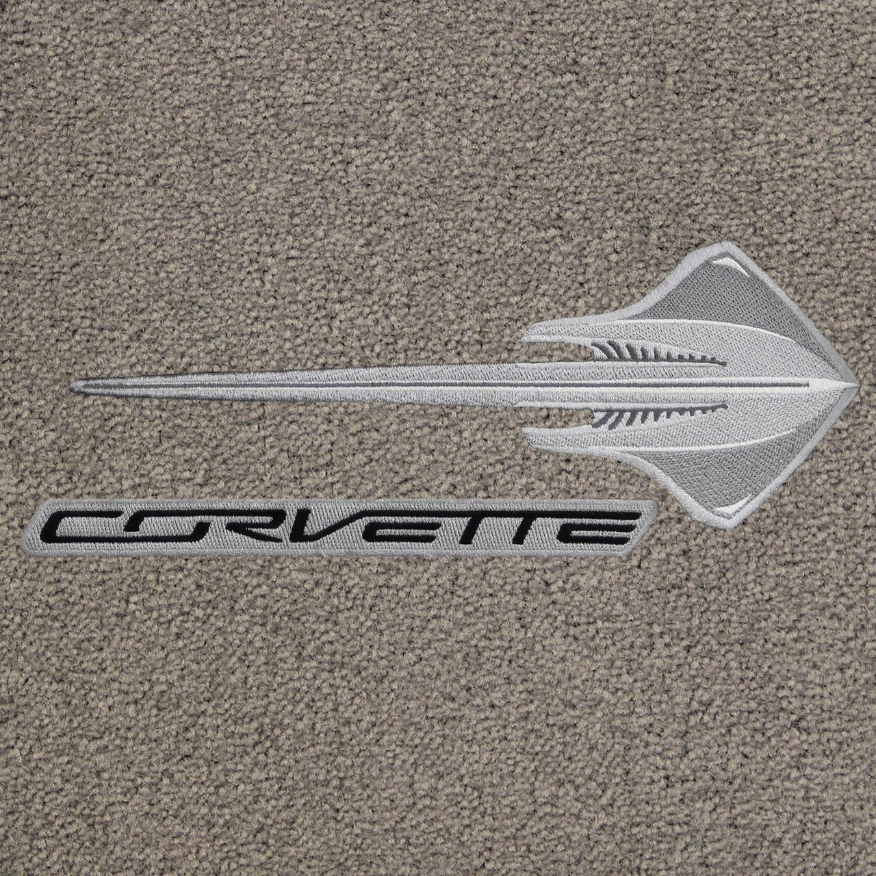 C7 Stingray Fish, Black Corvette Lettering, Graystone Mat