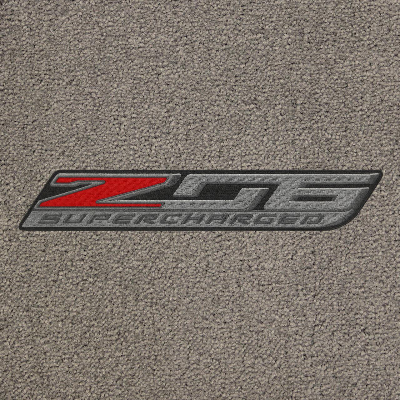 C7 Z06 Corvette Logo on Graystone Mat