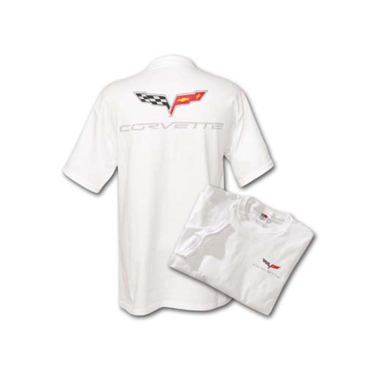 C6 Corvette White T-Shirt (both)