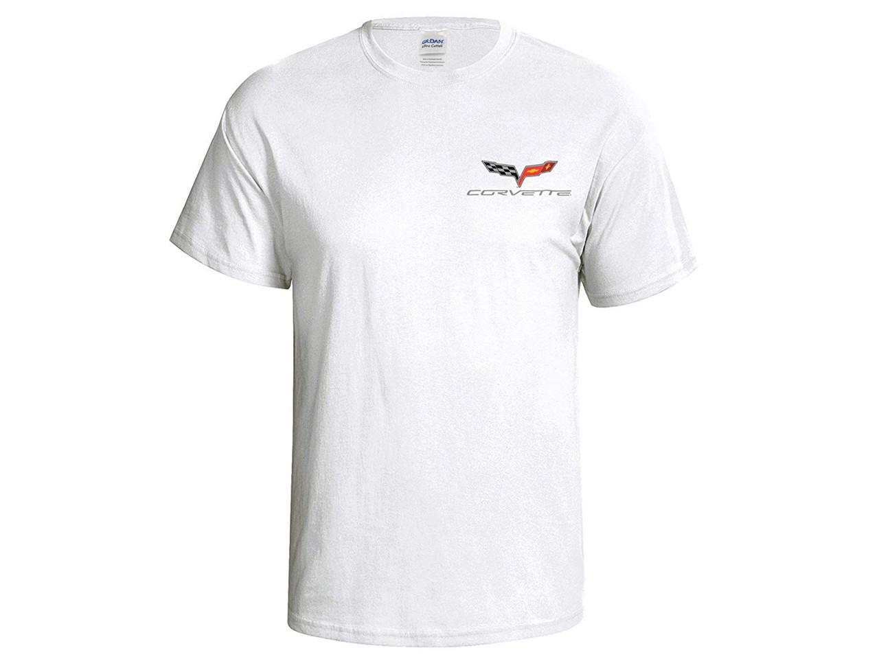 C6 Corvette White T-Shirt (front)