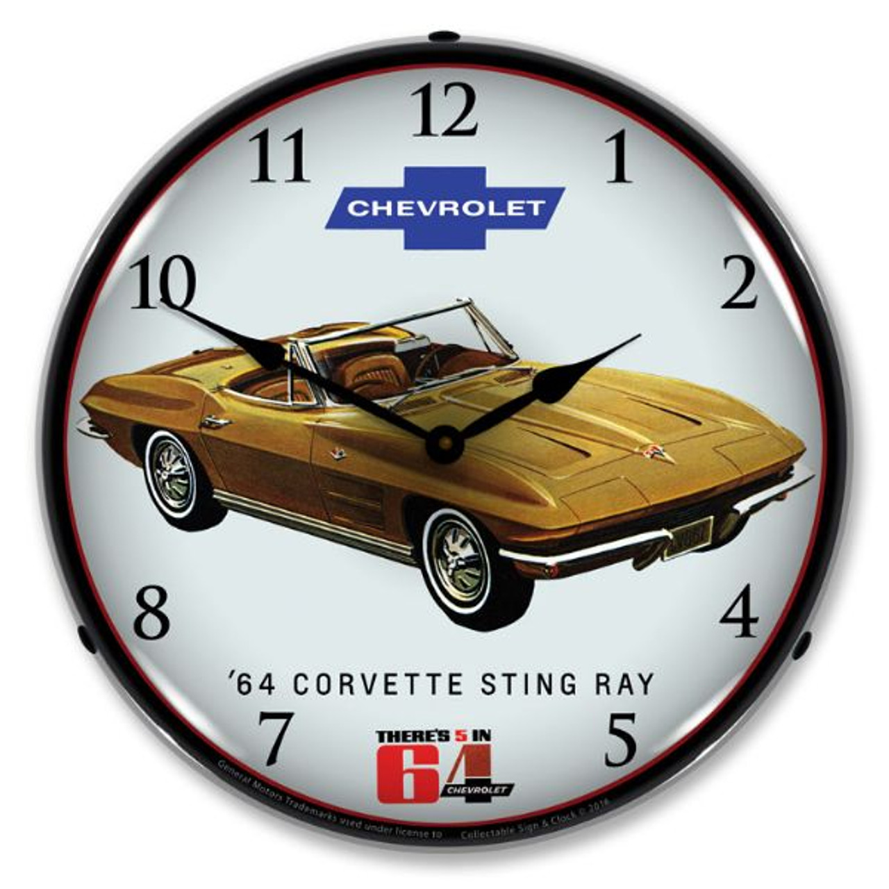 1964 Corvette Sting Ray Clock