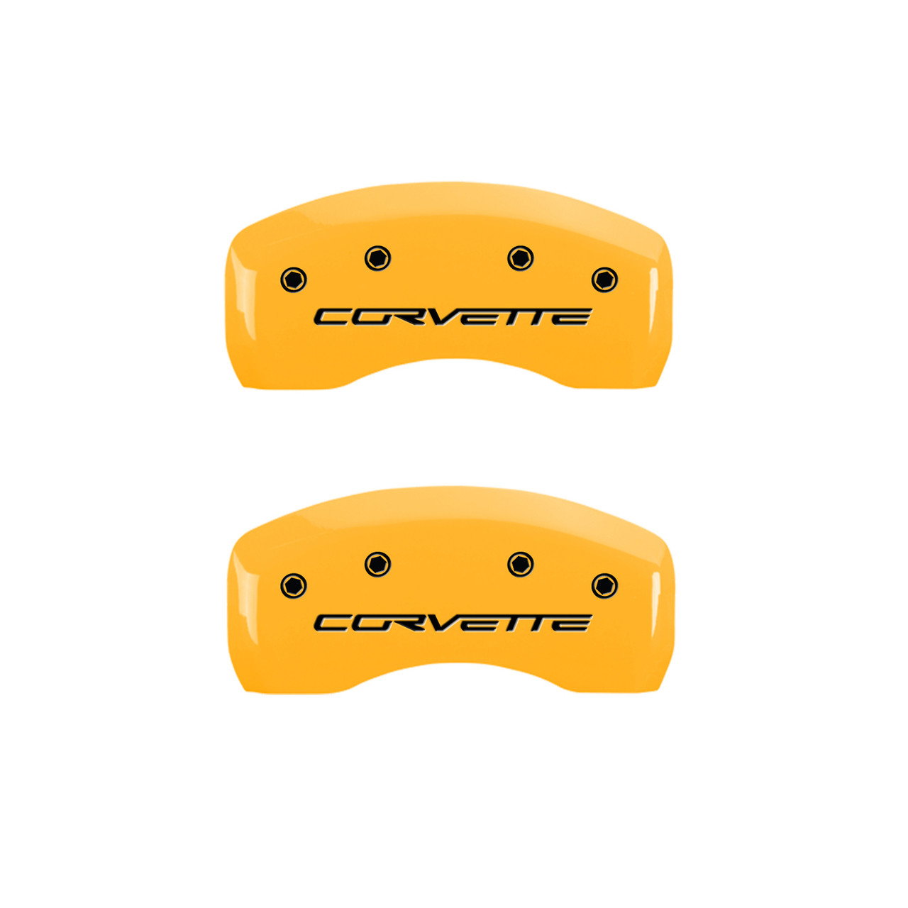 Corvette Brake Caliper Cover Yellow (rear)