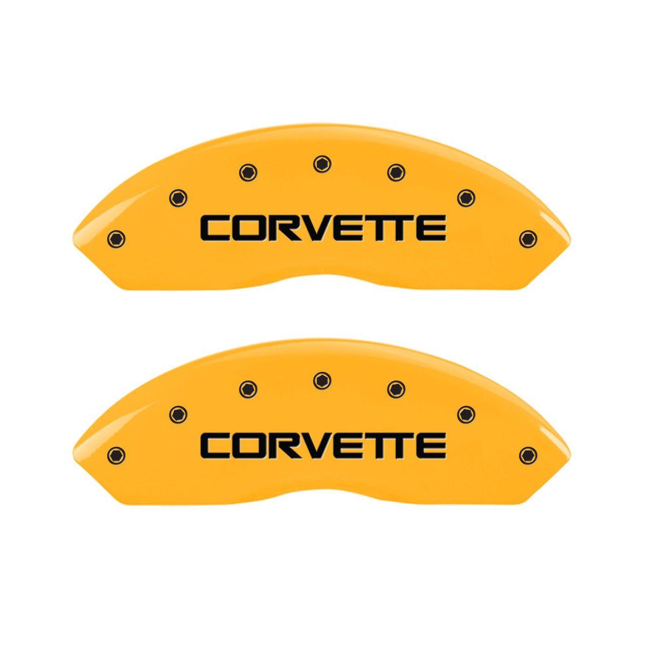 C4 Corvette Caliper Covers - Yellow (front)