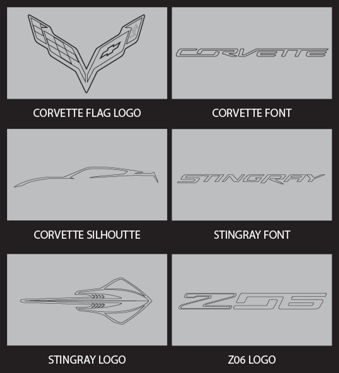 Corvette Logo Choices.