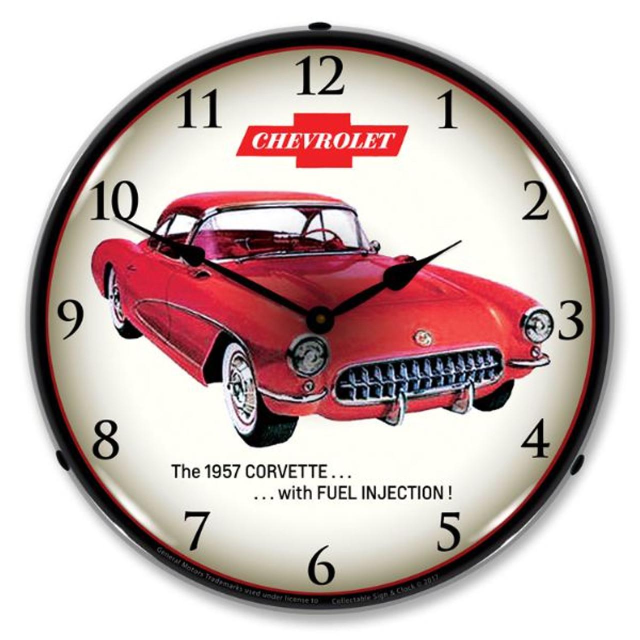 C1 1957 Fuel Injection Corvette Backlit Clock