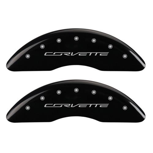 Corvette Brake Caliper Cover Black (front)