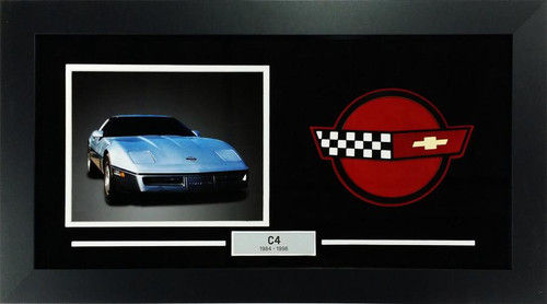 C4 Corvette Custom Framed Picture  w/ Sample Vette