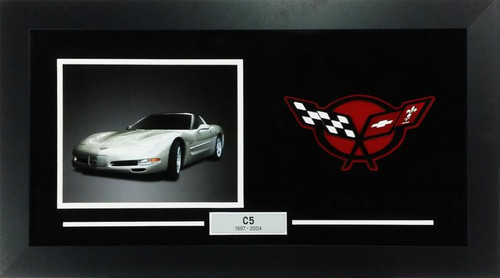 C5 Corvette Custom Framed Picture w/ Sample Vette