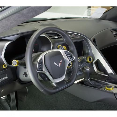 C7 Corvette Interior Knob Kit Inside Cabin