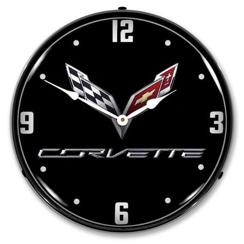 C7 Corvette Black Tie LED Backlit Clock
