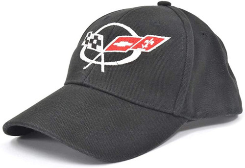 C5 Corvette Black Brushed Twill Hat alt