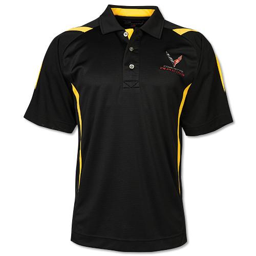 C8 Corvette Racing Pegasus Black/Yellow Polo Shirt