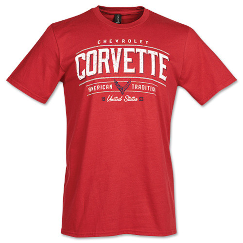 C8 Corvette American Tradition Since 1953 Red T-Shirt