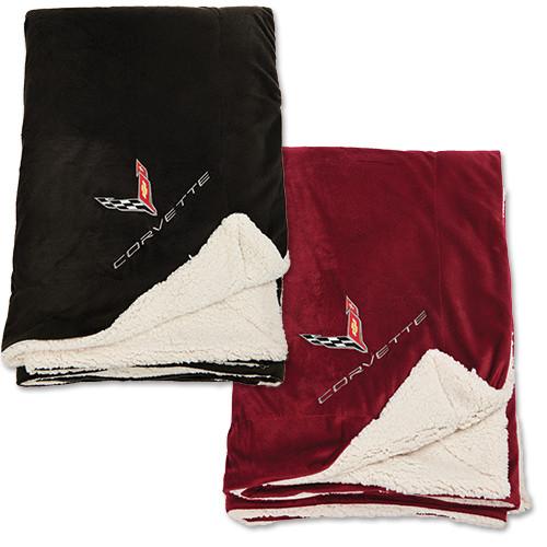 C8 Corvette Faux Lamb's Wool Blanket