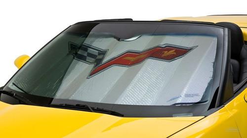 2005-2013 C6 Corvette Foldable Bubble Sun Shade (in car)