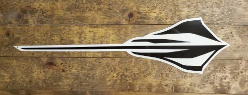 C8 Stingray with Black Corvette Metal Sign