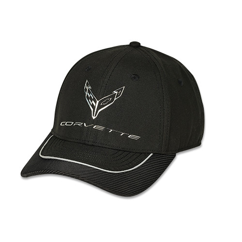 C8 Corvette Metallic Black Hat