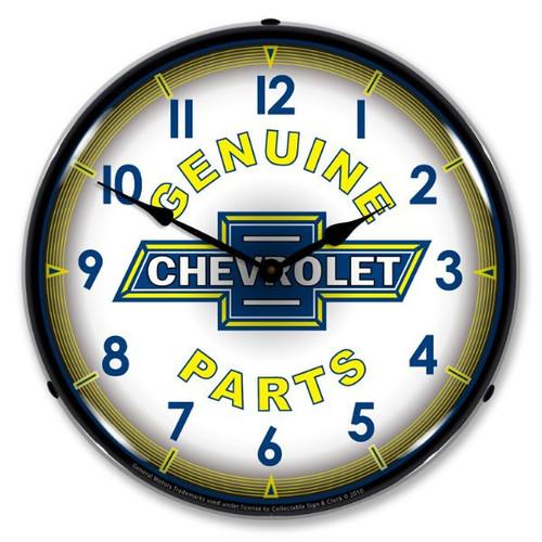 Genuine Chevrolet Parts Vintage LED Backlit Clock