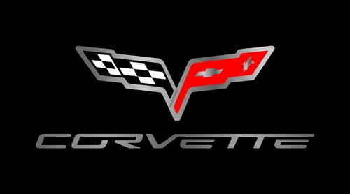 C6 Corvette Black License Plate w/ Script