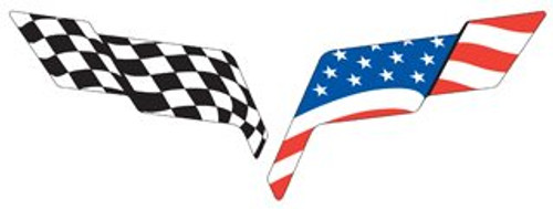 C6 Corvette USA Flag Overlay