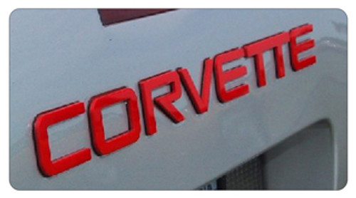 C4 Corvette Letter Kit (red)