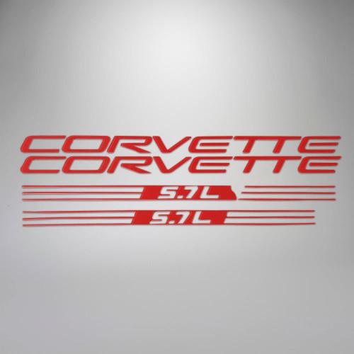 C5 97-98 Corvette 5.7L Fuel Rail Letter Kit - Red