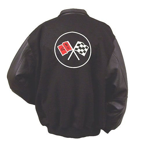 C2 Corvette Varsity Jacket back