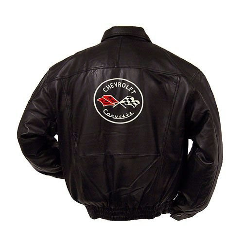 C1 Corvette Leather Jacket back