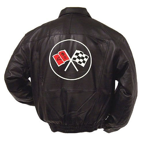 C2 Corvette Leather Jacket back
