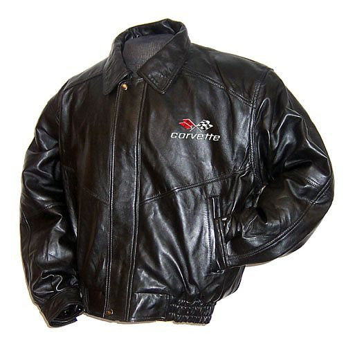 C3 Corvette Leather Jacket front