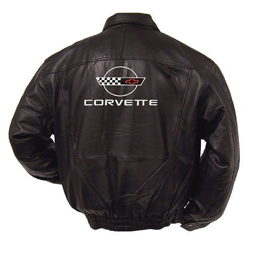 C4 Corvette Leather Jacket back