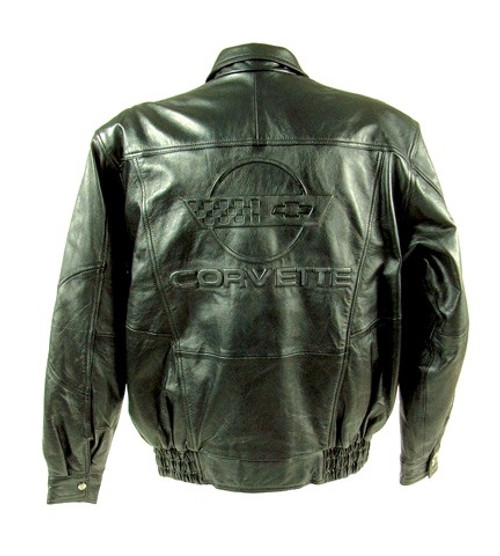 C4 Corvette Embossed Jacket back