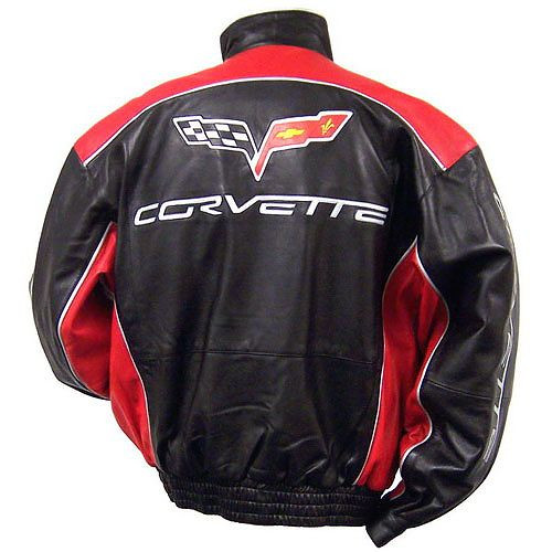 C6 Corvette Leather Jacket back