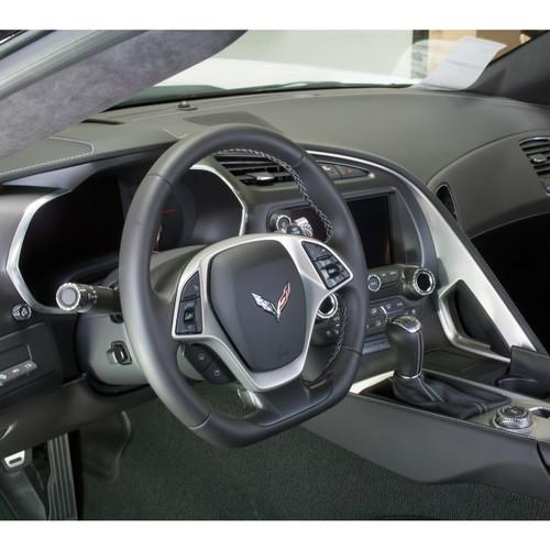 C7 Corvette Interior Knob Kit - Carbon Fiber Blade Silver