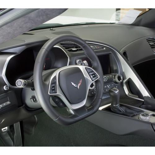 C7 Corvette Interior Knob Kit - Carbon Fiber Arctic White