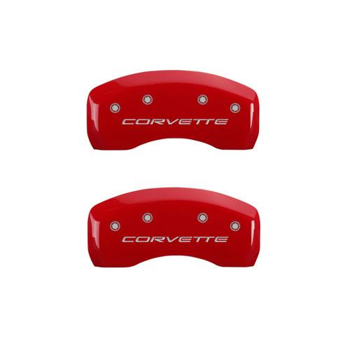 C5 Corvette Caliper Covers - Red (rear)