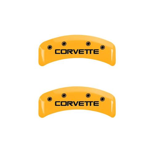 C4 Corvette Caliper Covers - Yellow (back)