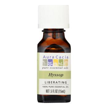 Aura Cacia - 100% Pure Essential Oil Hyssop Liberating - .5 Oz