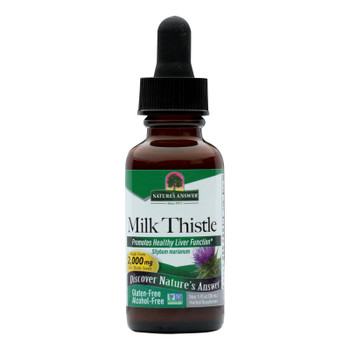 Nature's Answer - Milk Thistle Seed Alcohol Free - 1 Fl Oz