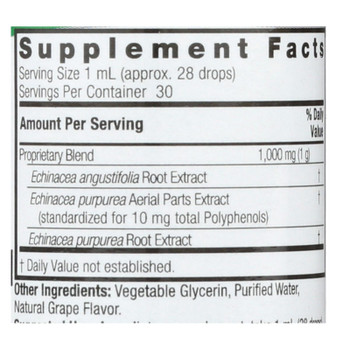 Nature's Answer - Af Echinacea With Grape - 1 Oz