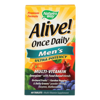 Nature's Way - Alive! Once Daily Men's Multi-vitamin - 60 Tablets