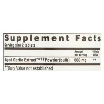 Kyolic - Aged Garlic Extract Cardiovascular Formula 100 - 100 Tablets