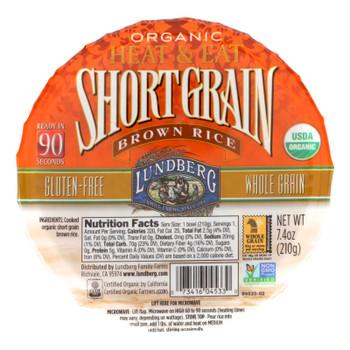 Lundberg Family Farms Organic Short Grain Brown Rice - Case Of 12 - 7.4 Oz.