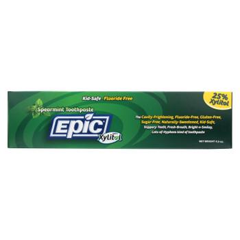 Epic Dental - Fluoride Free Xylitol Toothpaste - Spearmint - 4.9 Oz