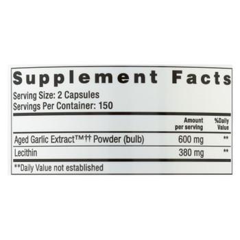 Kyolic - Aged Garlic Extract Cholesterol Formula 104 - 300 Capsules