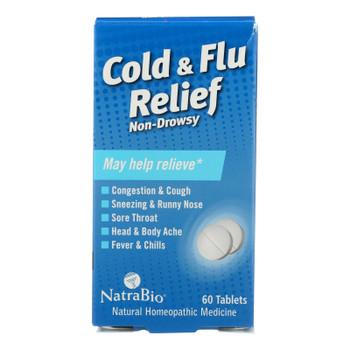Natrabio Cold And Flu Relief Non-drowsy - 60 Tablets